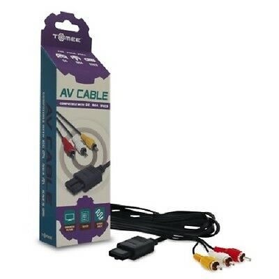 NEW AV Audio Video Cables for Super Nintendo SNES, GameCube, N64 with Guarantee