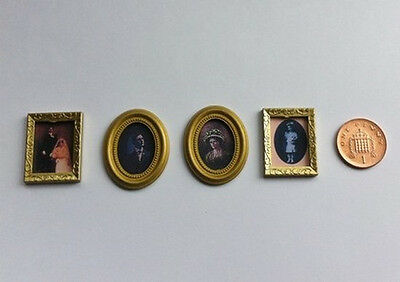 Small Framed Pictures Four Pack, Dolls House Miniature Wall Decor