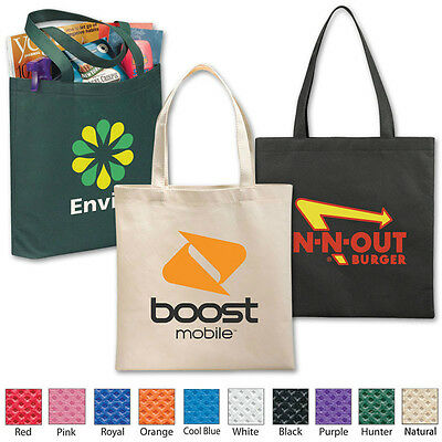 VALUE FLAT POLY-AIR TOTES - 100 quantity - Custom Printed with Your Logo