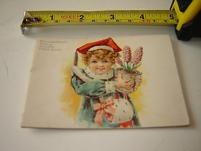 MCLAUGHLIN'S COFFEE ADVERTISING YOUNG  ARTIST PAINT BOOK vintage