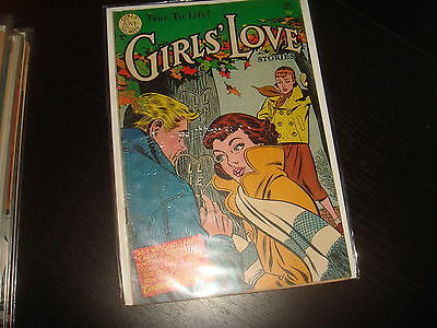 GIRLS' LOVE STORIES #33 Golden Age Young Romance DC Comics 1955 VG+