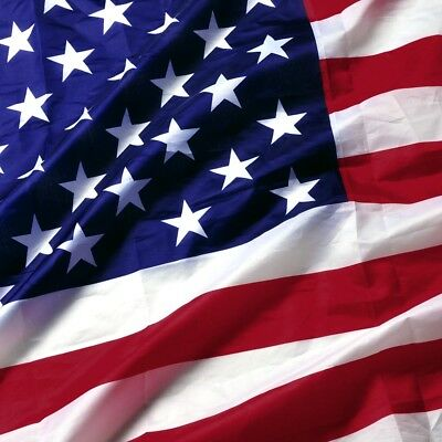 3' x 5' FT USA US U.S. American Flag Polyester Stars Brass Grommets Fit Flagpole