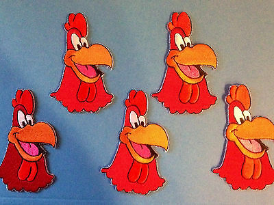 5 Lot Foghorn Leghorn Looney Toones Cartoon Hat Jacket Backpack Patches Crests A