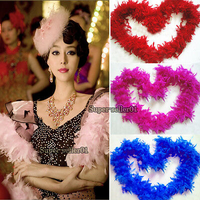 Nice Long Fluffy Feather Boa for Party Wedding Dress up Costume Decor 2M 79Inch