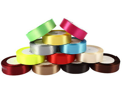 "25Yards 1""(25mm) Ribbon Wedding Party Craft Satin DIY hair Bow free shipping"