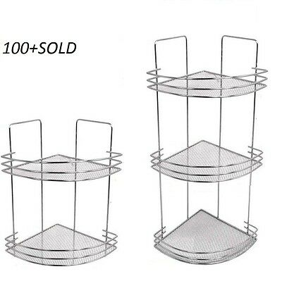 2 & 3 Tier Corner Bathroom Bath Room Shower Caddy Organiser Tidy Rack Shelf Unit