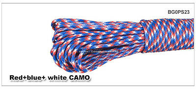 Camoflage 25 FT 550 Paracord Parachute Cord Lanyard Mil Spec Type III 7 Strand