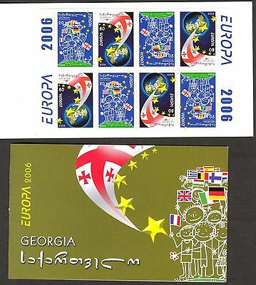 Georgia 2006 Europa CEPT Integration Flags Booklet MNH**