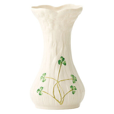 Irish Belleek Diasy Spill Vase 0517 Daisy & Handpainted Shamrocks Ireland