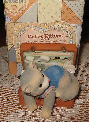 CALICO KITTENS 1997 by ENESCO -Hug A Day Packs Your Troubles Away - NIB- Retired