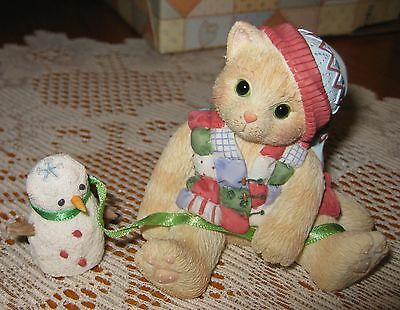 CALICO KITTENS 1997 by ENESCO-One Look From You Melts My Heart- NIB- Retired