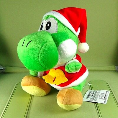 "Super Mario Brother 8"" Green Yoshi Christmas Plush Doll Figure Toy"