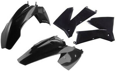 Acerbis Plastic Kit For KTM 125-525 EXC 2005-2007 Black 2071130001