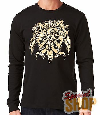 "Camiseta Manga Larga""alice In Chains-Skull""long Sleeve"