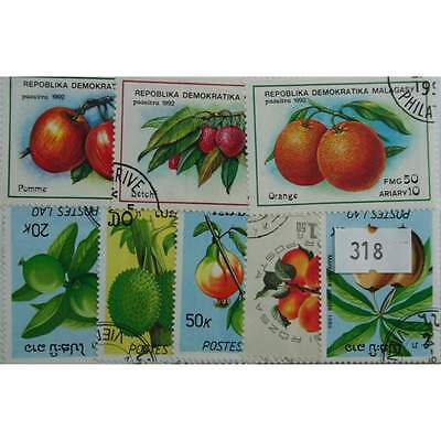 Fruit, 25 stamps, all different (318(