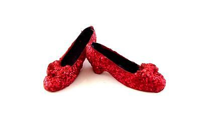 Melody Jane Dolls Houses Miniature Clothing Ruby Slippers Red Glitter Shoes