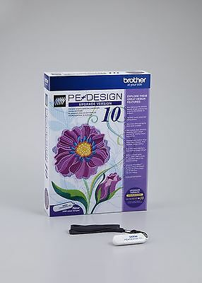 Brother PE Design 10 Embroidery Software Upgrade from 5/6/7/8/Next B286 UGKPED10