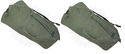 Lot of 2 USGI Military Duffle Sea Bags  Backpack Army Navy Pack  Good Condition
