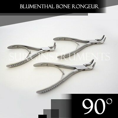 "3 Pieces Of Blumenthal Bone Rongeur 90 Degree 6"" Surgical Dental Instruments"