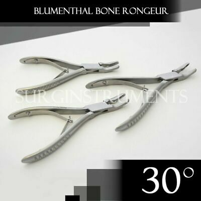 "3 Pieces Of Blumenthal Bone Rongeur 30 Degree 4.5"" Surgical Dental Instruments"