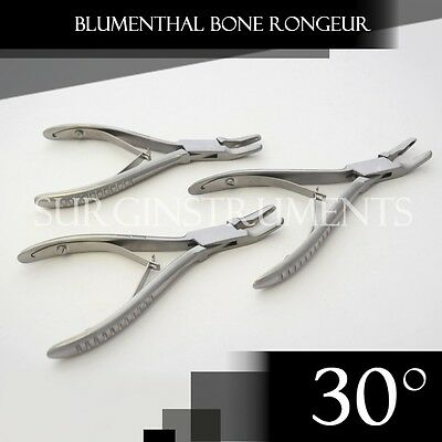 "3 Pieces Of Blumenthal Bone Rongeur 30 Degree 5.5"" Surgical Dental Instruments"