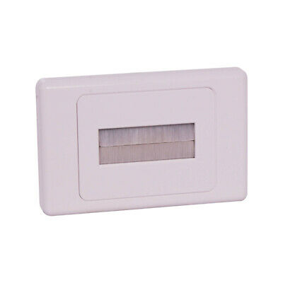 Brush Wall Plate White In-Wall Cable Management (PRO1272)