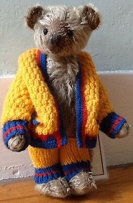 """10"""" Limerick Jointed Mohair Teddy Bear Toby By Lynn & Phil Gatto Vermont VT"""