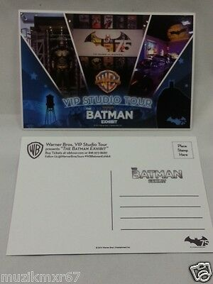 SDCC Comic Con 2014 Handout WB The Batman Exhibit 75 VIP Studio Tour Postcard