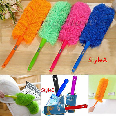 Soft Microfiber Cleaning Duster Dust Cleaner Handle Feather Dusting Anti Magic