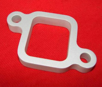 1/2 thick CNC Billet aluminum water outlet spacer 194 230 250 292 Chevy inline 6