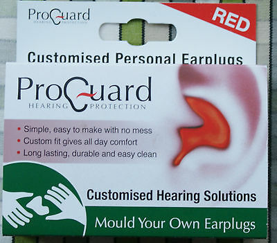 Proguard Mould Your Own MYO Earplugs effective to 24dB Red
