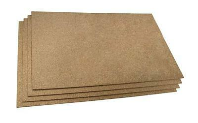 4 PACK MEDIUM GRAIN CORK SHEET - SIZE: 440 mm X 300 mm, CHOOSE THICKNESS