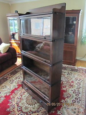 OAK WERNICKE SYSTEM BARRISTER OR LAWYERS STACKING BOOKCASE