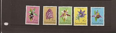 LUXEMBOURG 1975 FLOWERS MNH SET OF STAMPS