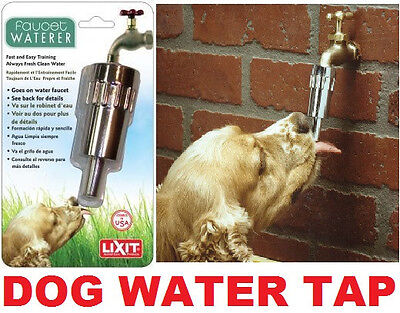 LIXIT PET WATER TAP fountain feeder automatic drink anti bowl dog barking fresh