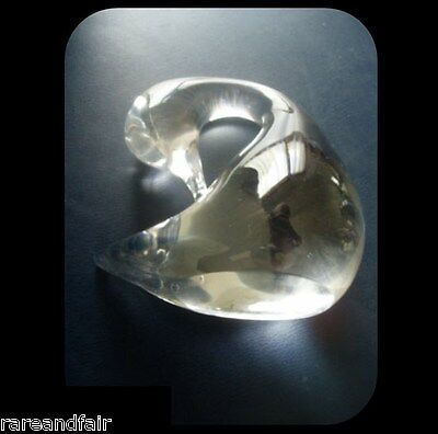 Daum France clear crystal swan - marked - FREE SHIPPING