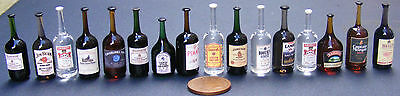 1:12 Assorted Glass Bottle Of Drink Dolls House Miniature Pub - Bar Accessory