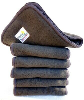 10 Charcoal Bamboo Inserts/Liners/Boosters for Modern Cloth Nappy/DiaperWashable