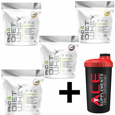 PhD Nutrition Diet Whey Protein Shake Powder Weight Loss Slimming + Free Shaker