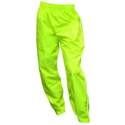 Oxford Motorcycle Waterproof Rainseal Over Trousers Pants - Fluo Yellow