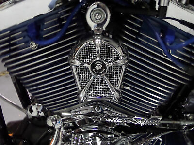 LeNale Engine Cooling Fan - Chrome -  93 - 08 Touring Harley New Design!