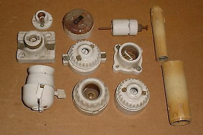 Grouping of Antique Electrical Parts