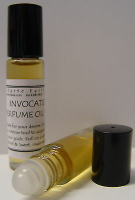 1 x INVOCATION OIL 10mls ROLL ON PERFUME OIL Wicca Witch Pagan Ritual Goth Spell