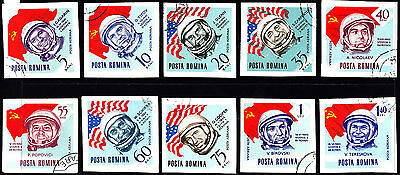 Romania 1964 Space Travel Complete Set of Stamps Used/CTO Full Gum, A