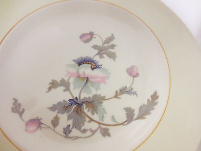 """Lot 6 Vintage K T & K (Knowles Taylor Knowles) S---V Ivory 9"""" Plates-Wildflower"""