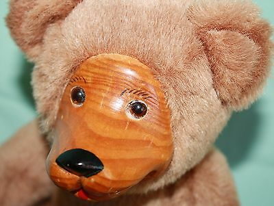 """FTD Bear Wood Face Paws plush 10"""" Collector Series Jointed Arm Stuffed Animal"""