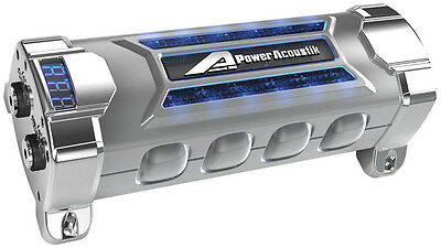 Power Acoustik PCX5F Capacitor 5 Farad Digital Disppower Acoustik