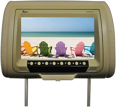 """Tview T939DVPLTAN 9"""" Headrest Monitor With Dvd Player Sold In Pairs Tan"""