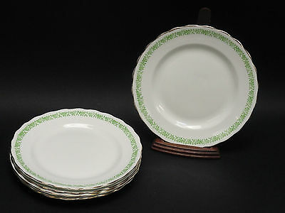 SET of 5 ANTIQUE ENGLAND BONE CHINA CROWN PLATE ~ 7""