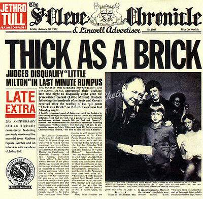 JETHRO TULL THICK AS A BRICK CD in Jewel Case Booklet Album New Sealed